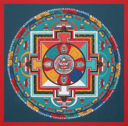 03-Mahakarunika Mandala with 5 deities