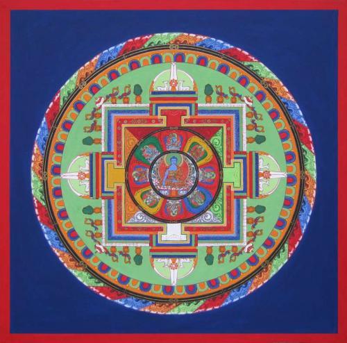 04-Mandala of Vajra Akshobhya with 9 deities