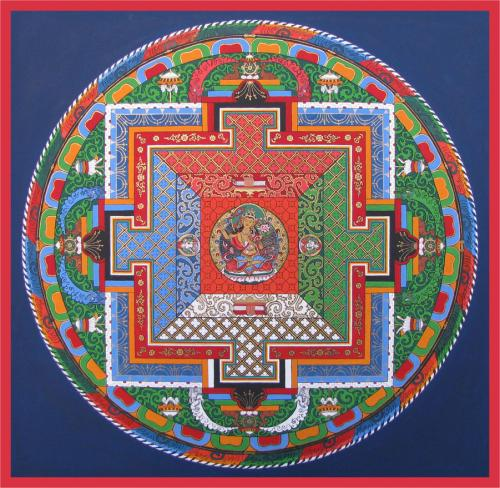08-Mandala of Auspicious Beginnings with 3 deities